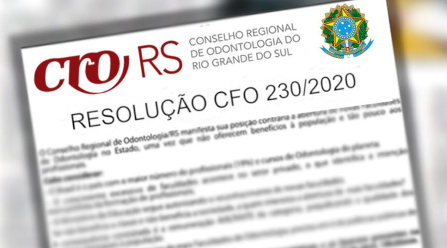 RESOLUÇÃO CFO 230/2020 ESCLARECE ALGUNS PONTOS SOBRE HARMONIZAÇÃO OROFACIAL