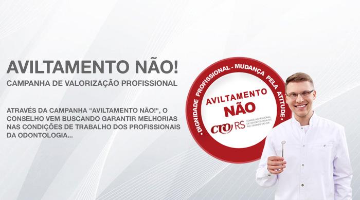 AVILTAMENTO NÃO! CAMPANHA DE VALORIZAÇÃO PROFISSIONAL