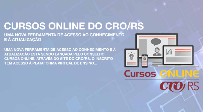 CURSOS ONLINE DO CRO/RS