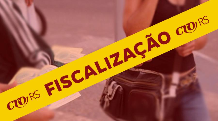 FISCALIZAÇÃO ACABA COM PUBLICIDADE IRREGULAR NO CENTRO DA CAPITAL GAÚCHA