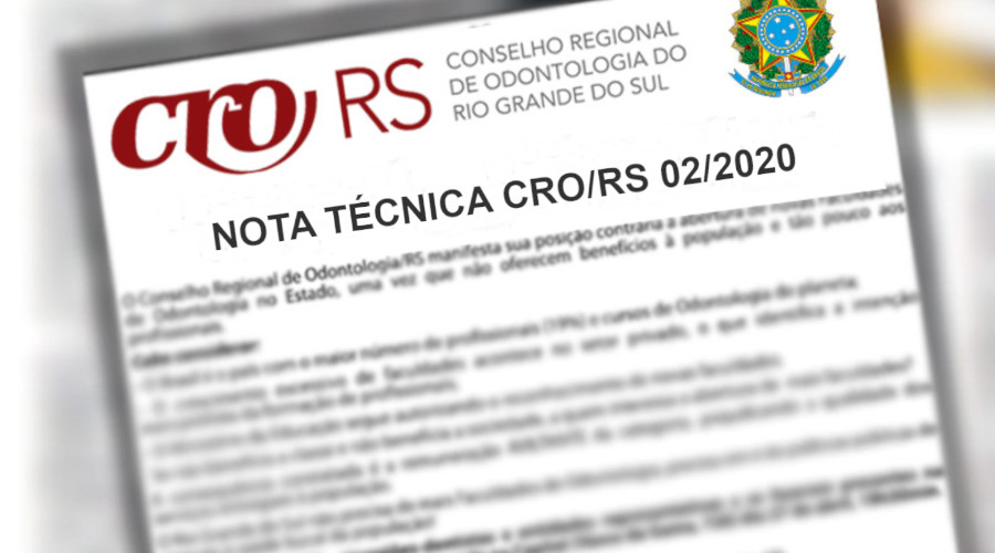 NOTA TÉCNICA SOBRE A ATUAÇÃO DA ODONTOLOGIA NA LINHA DE FRENTE DO CORONAVÍRUS