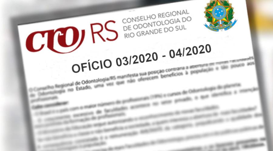 CRO/RS REQUER SUSPENSÃO DE TRIBUTOS E TAXAS